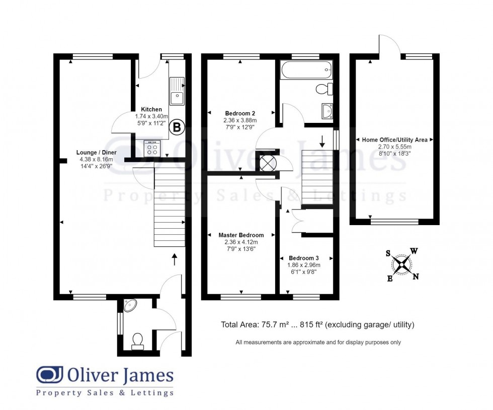 Floorplan for Glatton Road, Sawtry, Huntingdon.