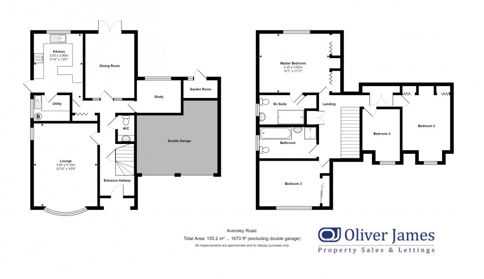 Floorplan for Aversley Road, Sawtry, Huntingdon.