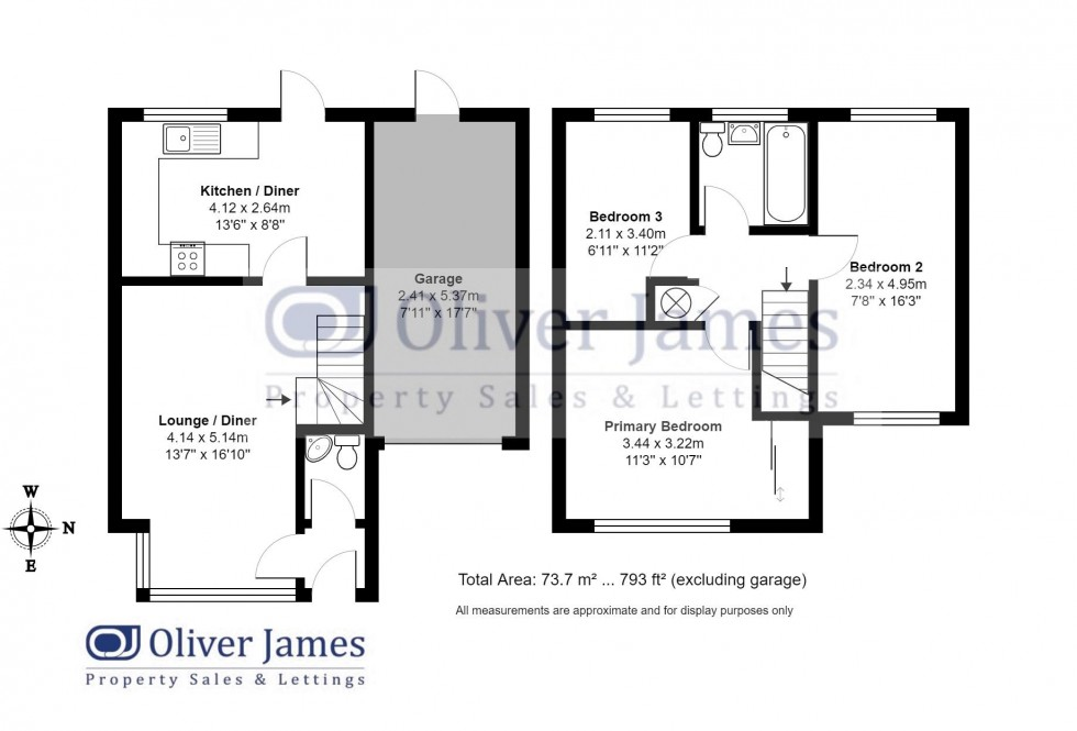 Floorplan for Orthwaite, Stukeley Meadows, Huntingdon