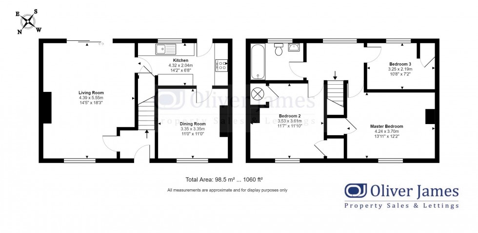 Floorplan for Statfold Green, Warboys, Huntingdon.