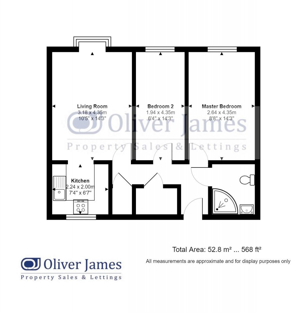 Floorplan for Millfield Court, Brampton Road, Huntingdon