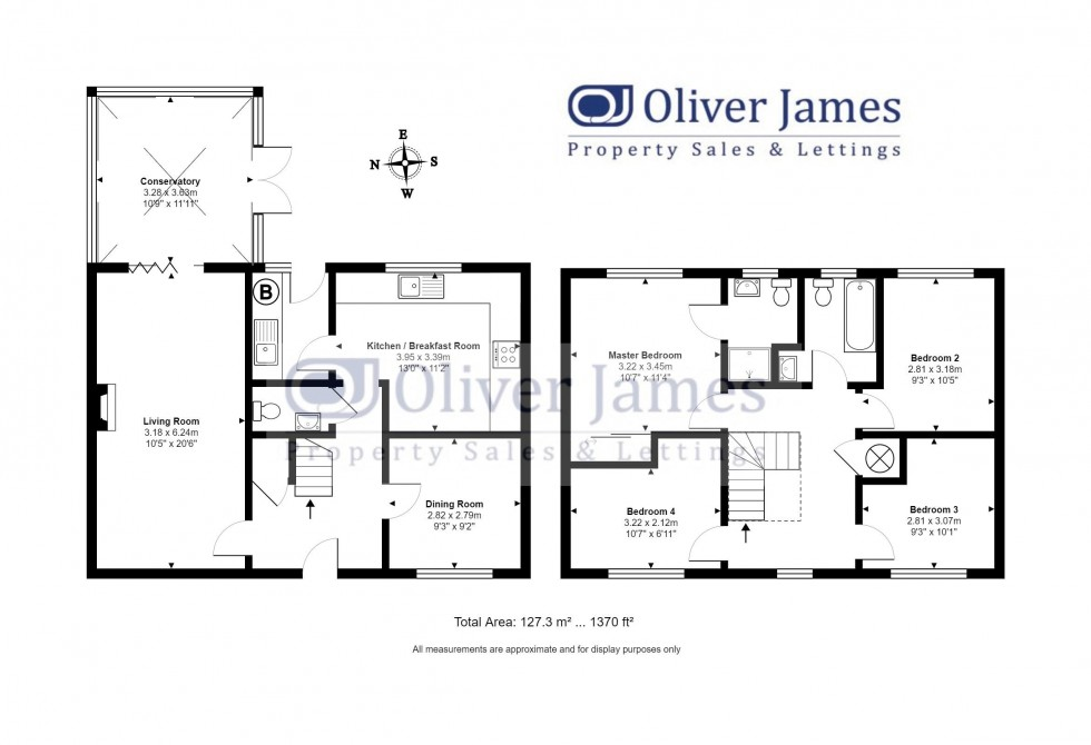 Floorplan for Foxglove Way, Ramsey St Marys, Cambridgeshire.
