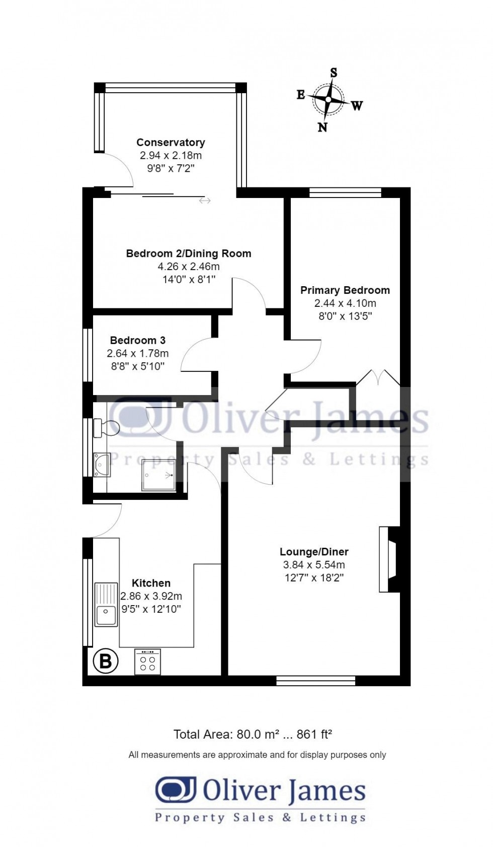 Floorplan for Offord D'Arcy, St. Neots, Cambridgeshire.