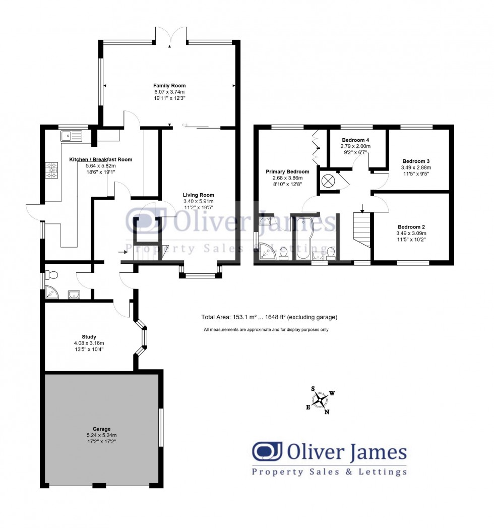 Floorplan for Osprey Close, Hartford, Huntingdon