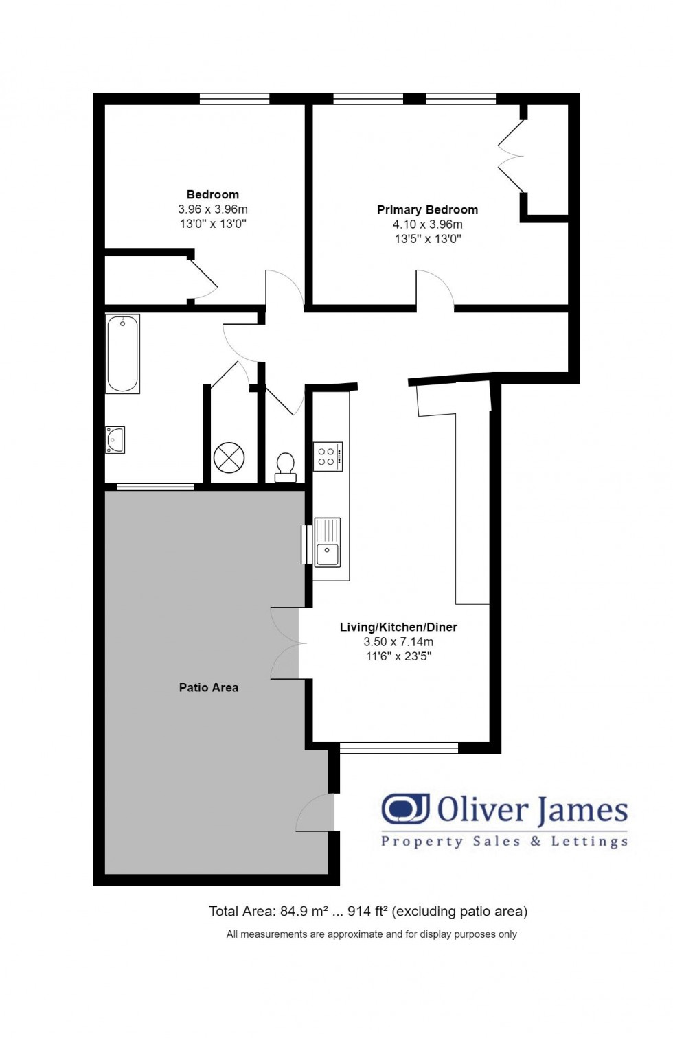 Floorplan for Great Whyte, Ramsey Cambridgeshire.