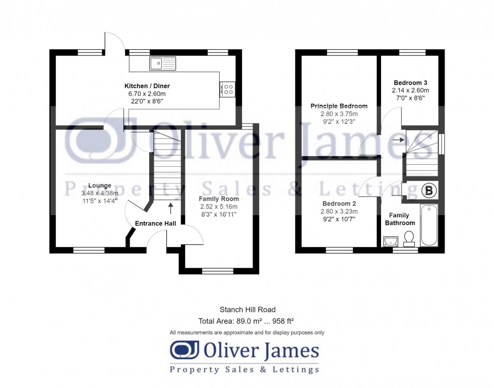 Floorplan for Stanch Hill Road, Sawtry.