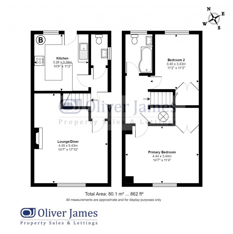 Floorplan for Huntingdon Road, Wyton & Houghton, Cambridgeshire.
