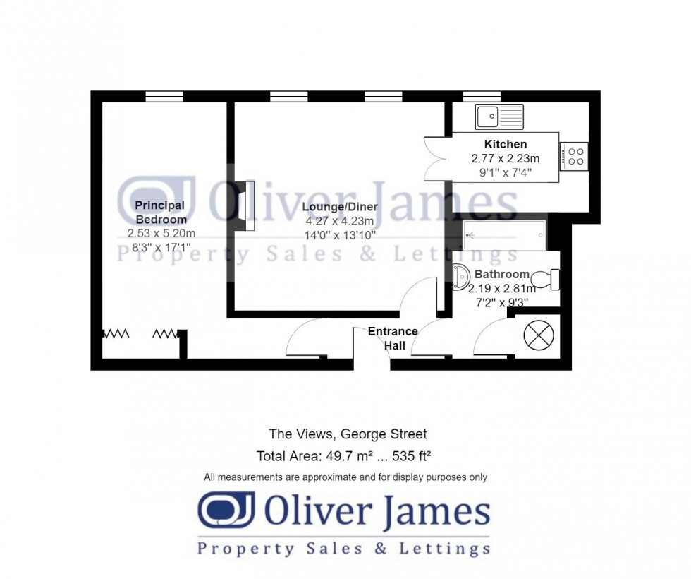 Floorplan for George Street, Huntingdon
