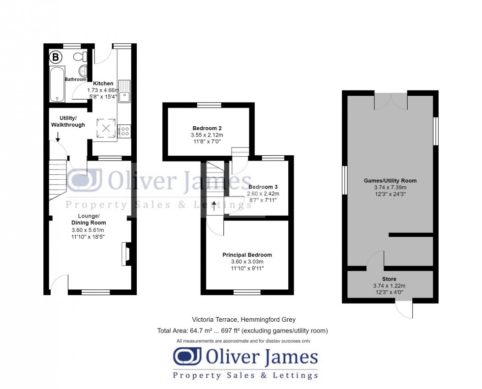 Floorplan for Hemingford Road, St. Ives
