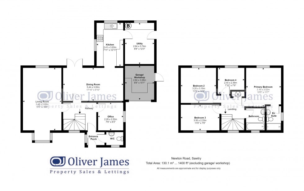 Floorplan for Newton Road, Sawtry
