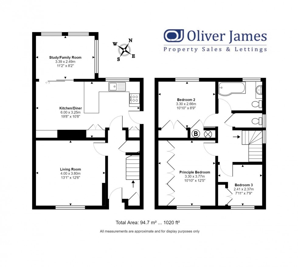 Floorplan for Clare Road, Huntingdon, Cambridgeshire.