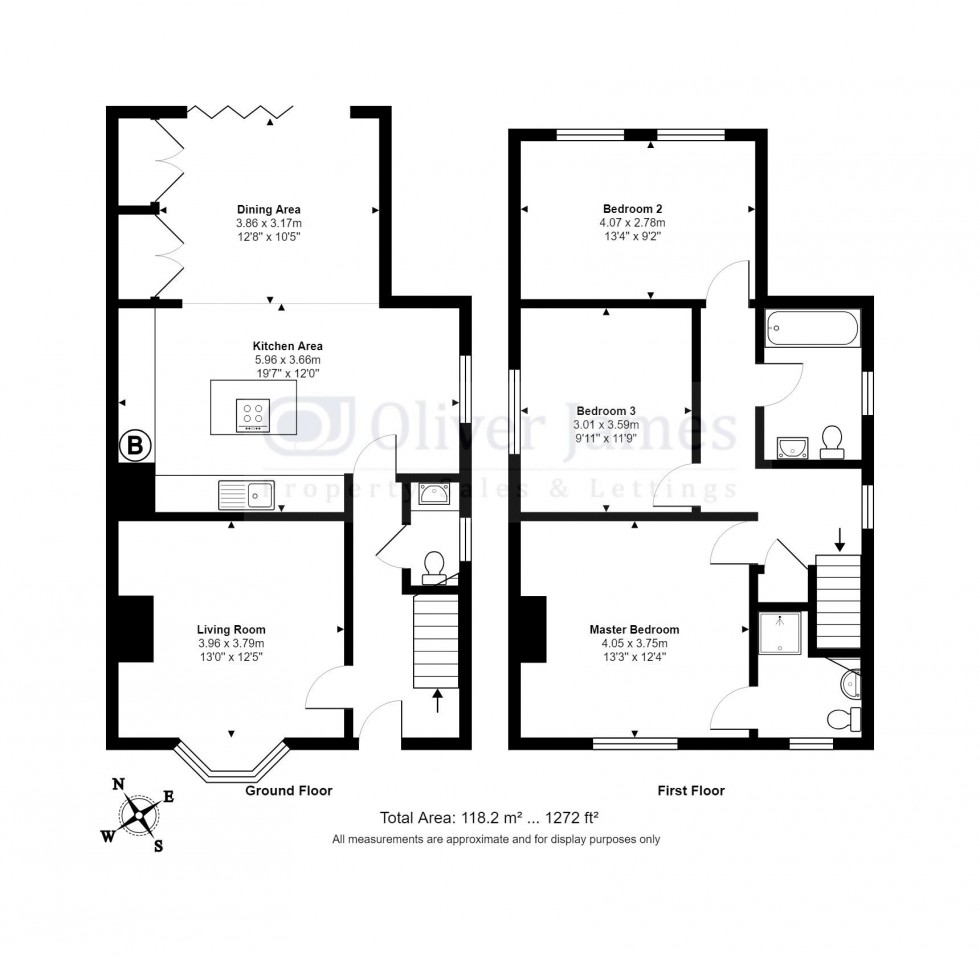 Floorplan for Green End Road, Sawtry, Cambridgeshire.
