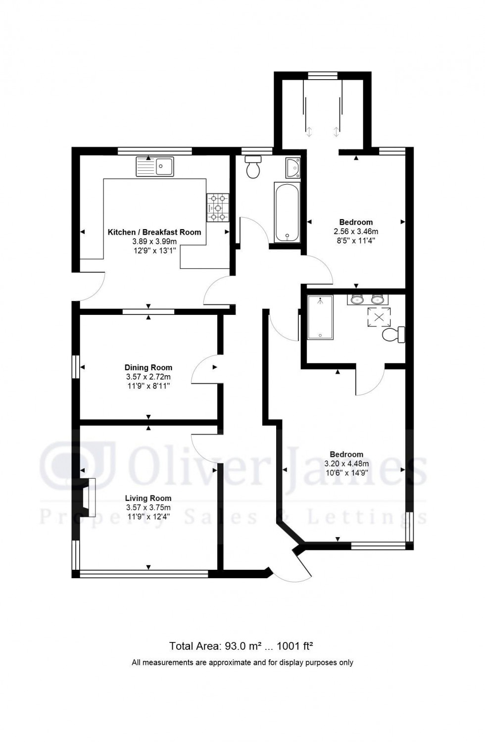 Floorplan for The Walks East, Huntingdon, Cambridgeshire.