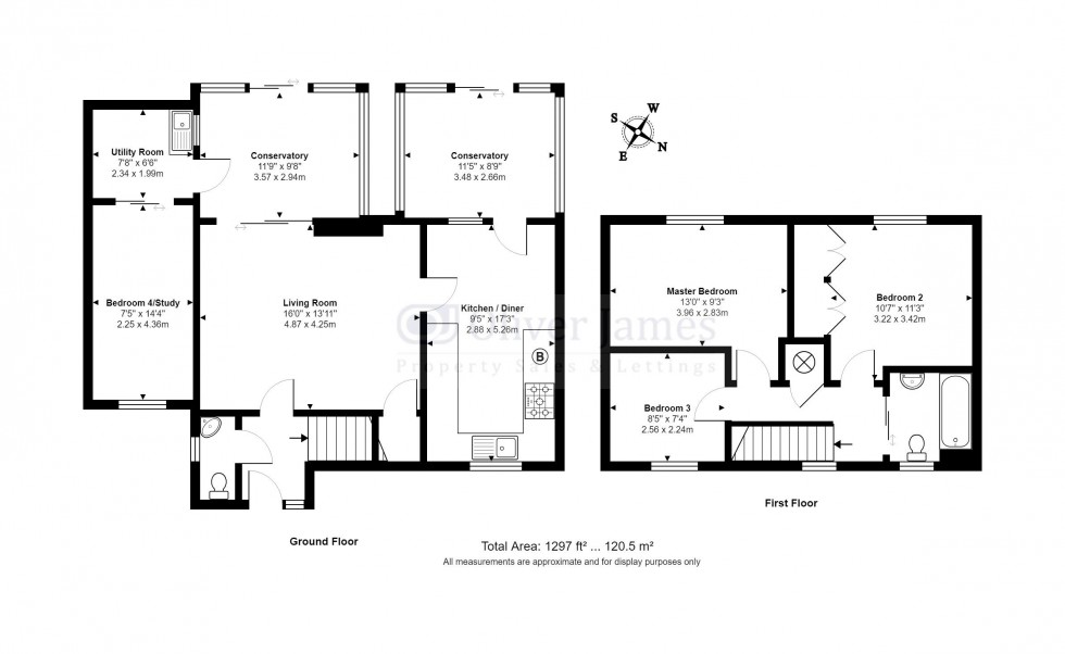 Floorplan for Fletchers Close, Ramsey, Cambridgeshire.