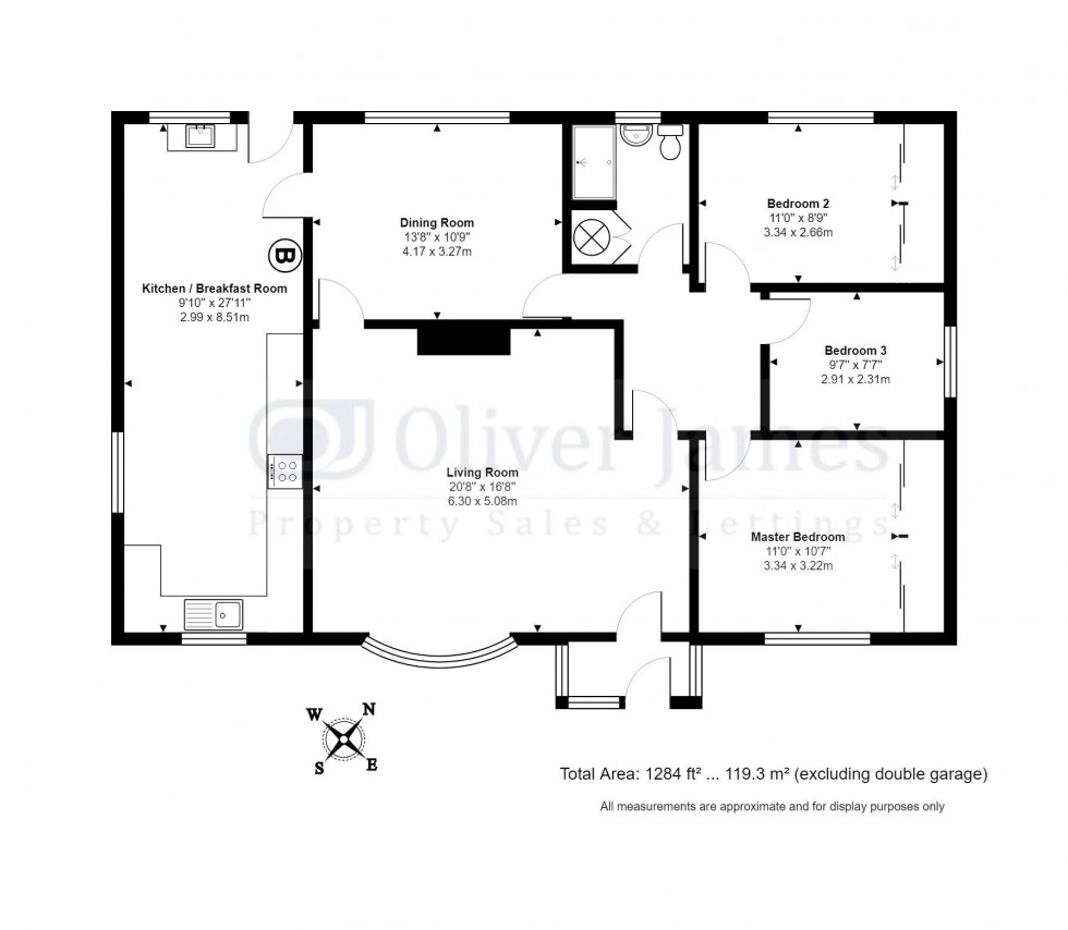 Floorplan for Desborough Road, Hartford, Huntingdon.