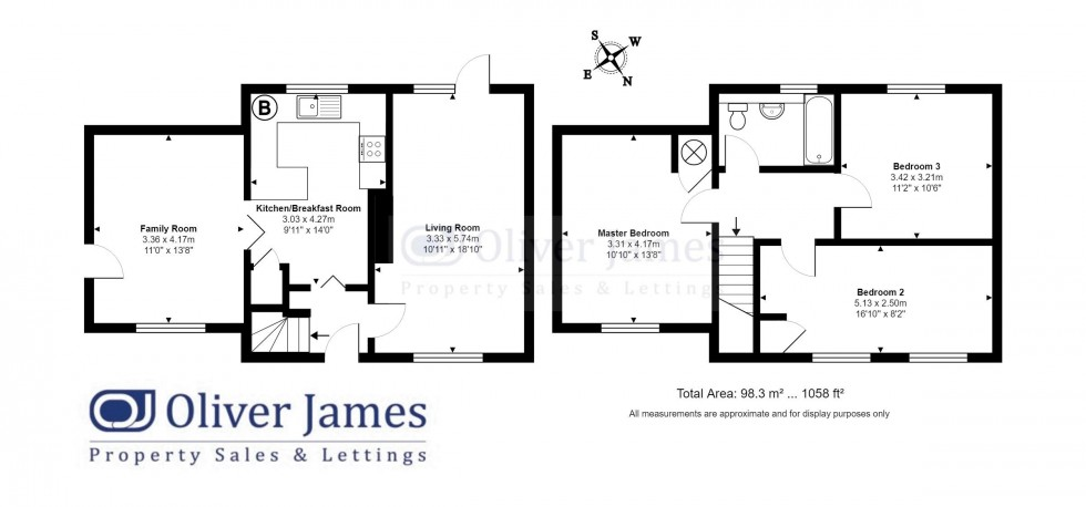 Floorplan for Coldhams North, Huntingdon, Cambridgeshire.