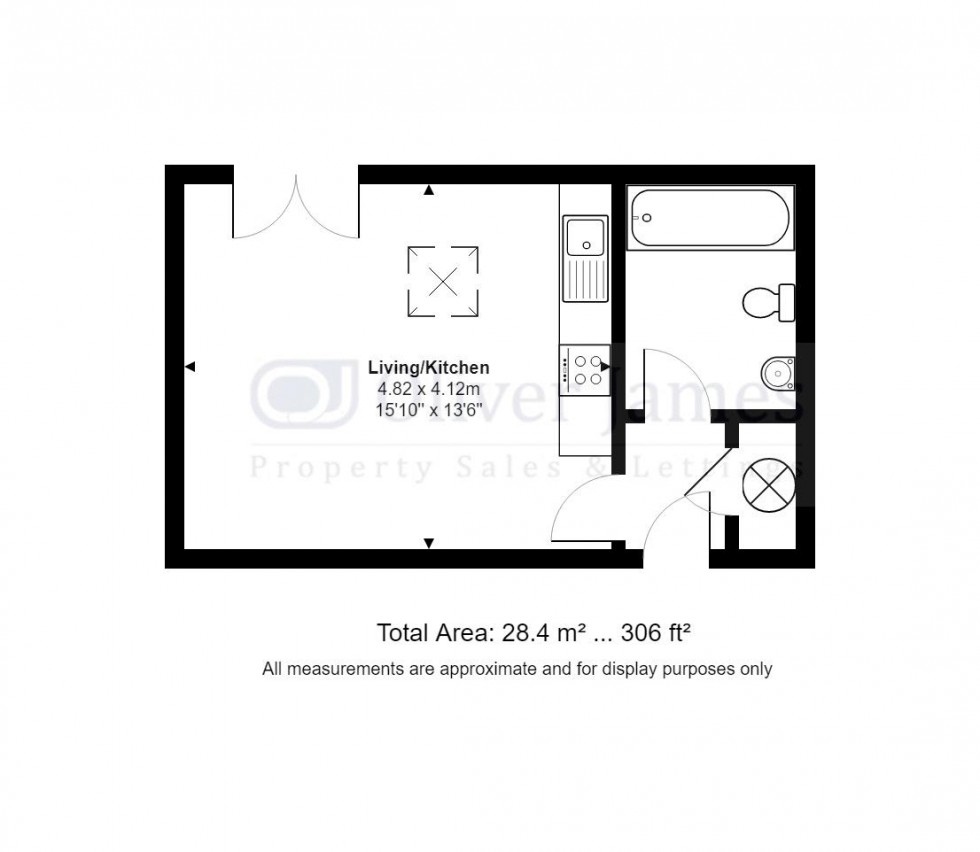 Floorplan for St. Georges Court, Huntingdon, Cambridgeshire.