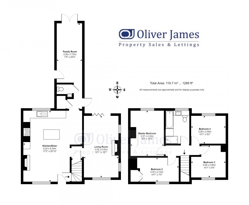 Floorplan for Ramsey Road, Kings Ripton, Huntingdon.