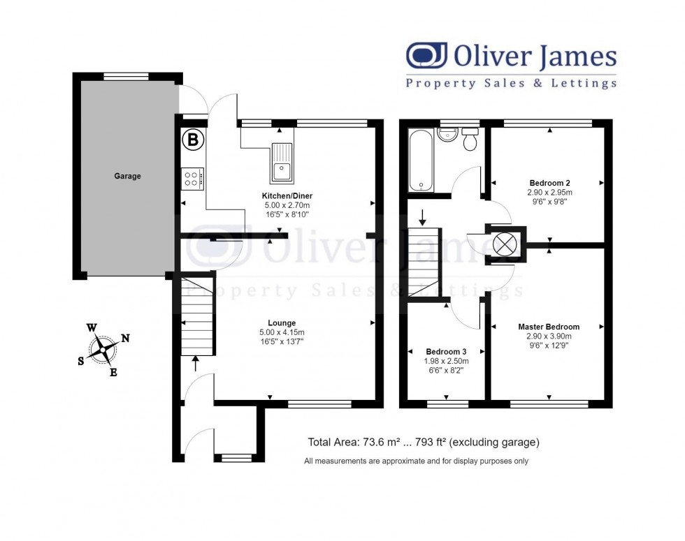 Floorplan for Middlefield Road, Sawtry, Huntingdon.